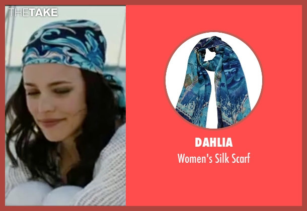 Dahlia blue scarf from Wedding Crashers seen with Rachel McAdams (Claire Cleary)