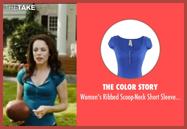 The Color Story blue shirt from Wedding Crashers seen with Rachel McAdams (Claire Cleary)