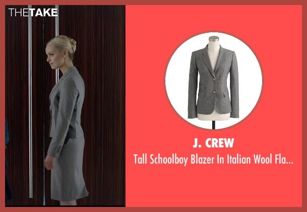 J. Crew gray flannel from Fifty Shades of Grey seen with Rachel Skarsten (Andrea)