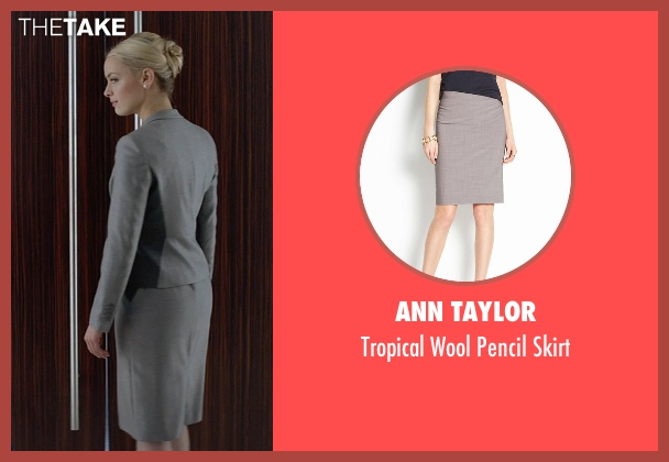 Ann Taylor gray skirt from Fifty Shades of Grey seen with Rachel Skarsten (Andrea)