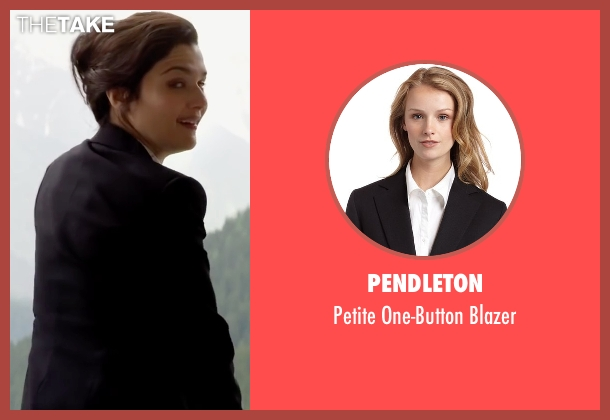 Pendleton black blazer from Youth seen with Rachel Weisz (Lena Ballinger)