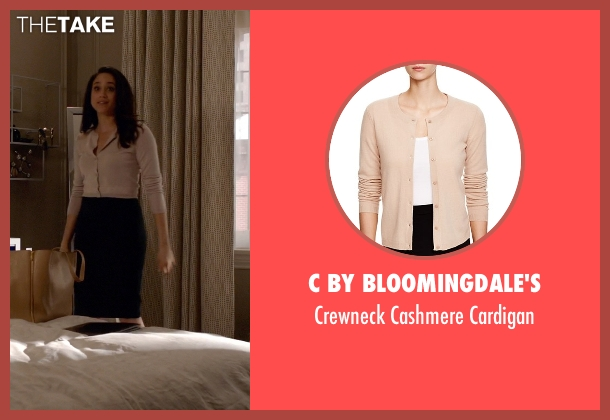C by Bloomingdale's beige cardigan from Suits seen with Rachel Zane (Meghan Markle)