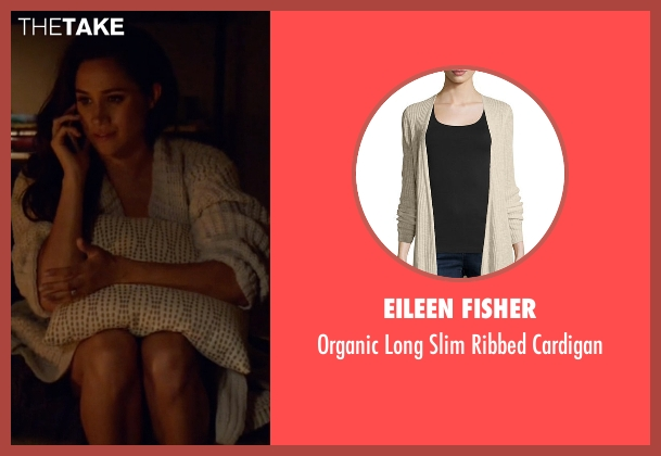 Eileen Fisher  beige cardigan from Suits seen with Rachel Zane (Meghan Markle)