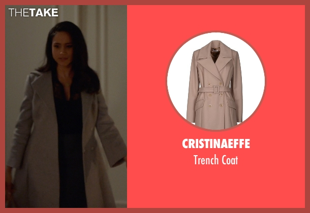 Cristinaeffe beige coat from Suits seen with Rachel Zane (Meghan Markle)