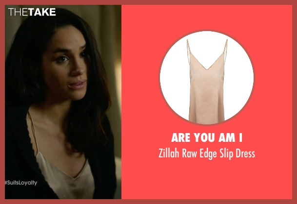 Are You Am I beige dress from Suits seen with Rachel Zane (Meghan Markle)