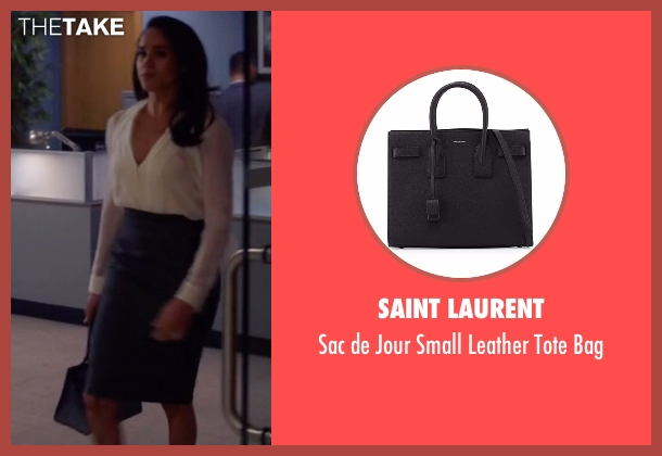 Saint Laurent black bag from Suits seen with Rachel Zane (Meghan Markle)