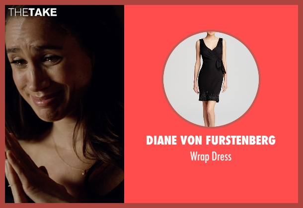 Diane Von Furstenberg black dress from Suits seen with Rachel Zane (Meghan Markle)
