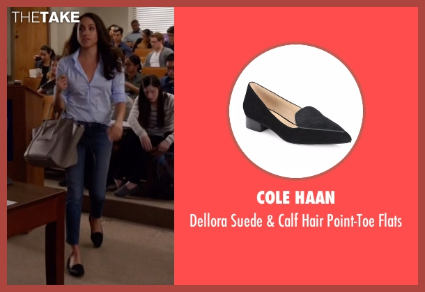Cole Haan black flats from Suits seen with Rachel Zane (Meghan Markle)