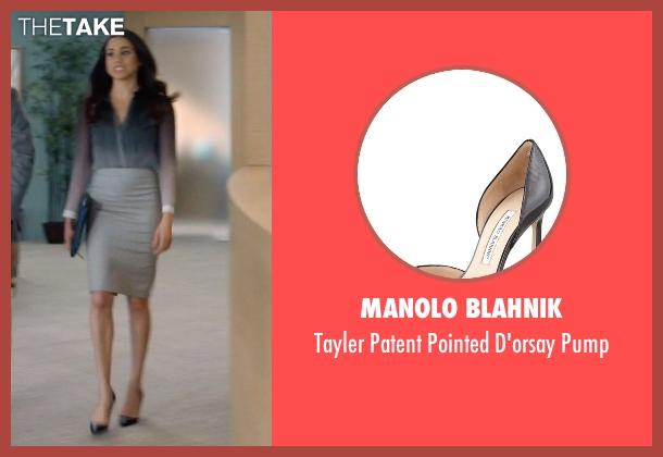 Manolo Blahnik black pump from Suits seen with Rachel Zane (Meghan Markle)