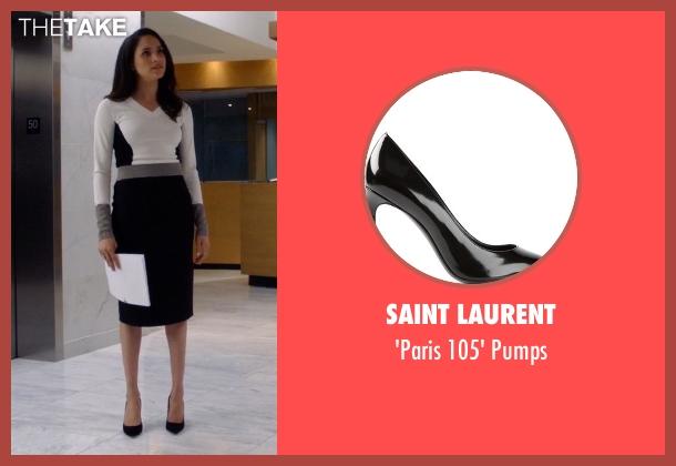 Saint Laurent black pumps from Suits seen with Rachel Zane (Meghan Markle)