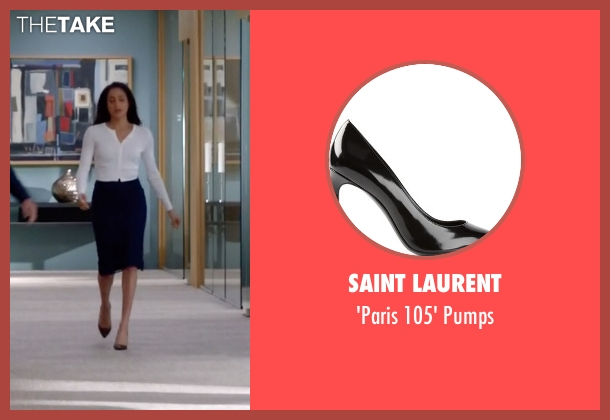Saint Laurent black pumps from Suits seen with Rachel Zane (Meghan Markle)