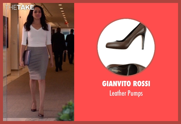 Gianvito Rossi black pumps from Suits seen with Rachel Zane (Meghan Markle)