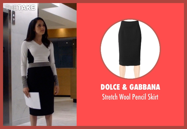 Dolce & Gabbana black skirt from Suits seen with Rachel Zane (Meghan Markle)
