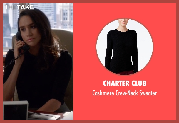 Charter Club black sweater from Suits seen with Rachel Zane (Meghan Markle)