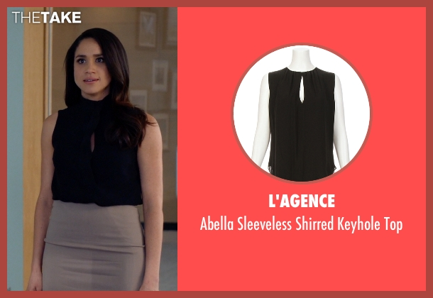 L'Agence black top from Suits seen with Rachel Zane (Meghan Markle)