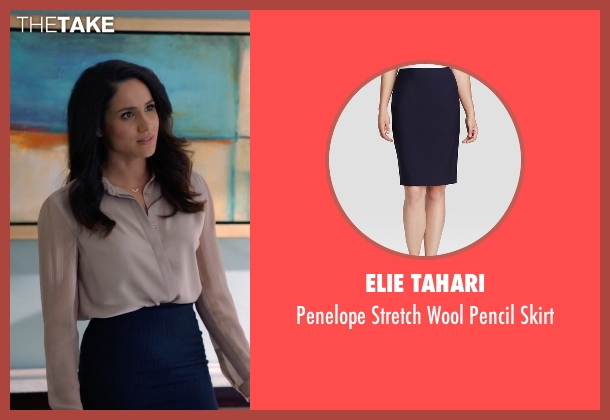Elie Tahari blue skirt from Suits seen with Rachel Zane (Meghan Markle)