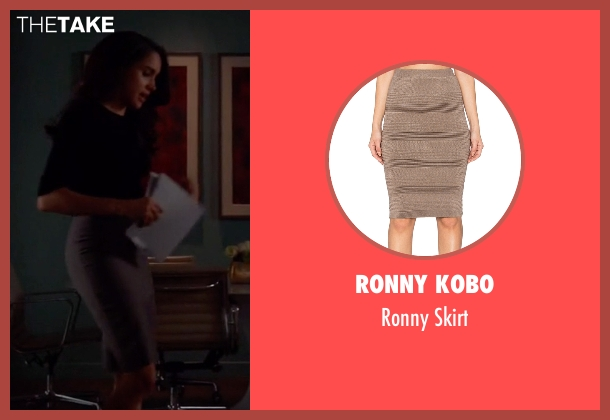 Ronny Kobo brown skirt from Suits seen with Rachel Zane (Meghan Markle)