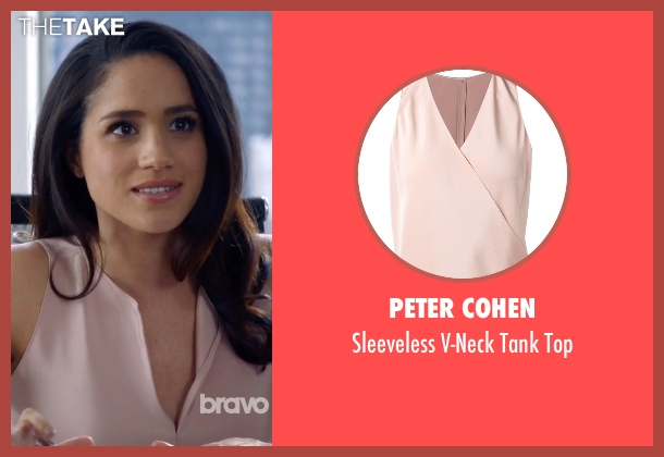 Peter Cohen brown top from Suits seen with Rachel Zane (Meghan Markle)