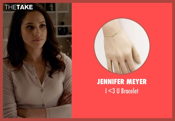 Jennifer Meyer gold bracelet from Suits seen with Rachel Zane (Meghan Markle)
