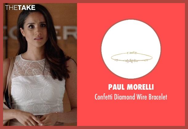 Paul Morelli gold bracelet from Suits seen with Rachel Zane (Meghan Markle)
