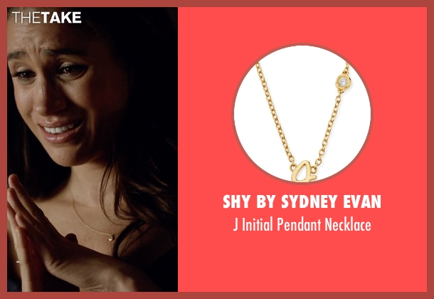 Shy By Sydney Evan gold necklace from Suits seen with Rachel Zane (Meghan Markle)