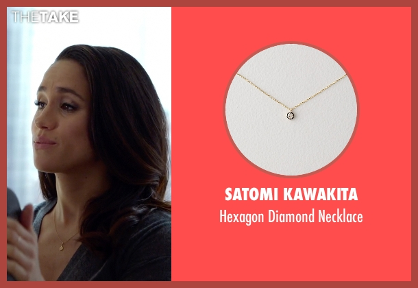 Satomi Kawakita gold necklace from Suits seen with Rachel Zane (Meghan Markle)