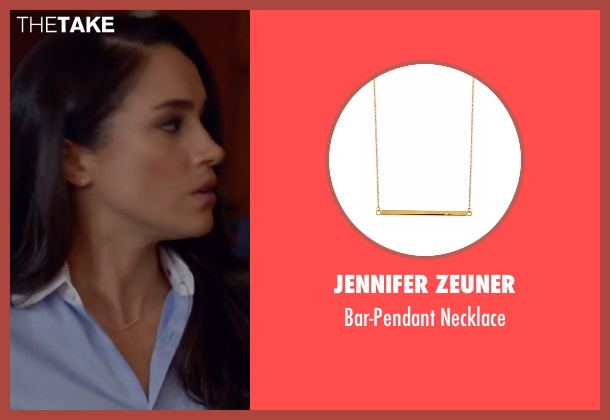 Jennifer Zeuner gold necklace from Suits seen with Rachel Zane (Meghan Markle)