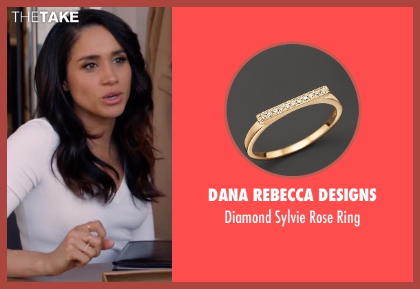 Dana Rebecca Designs gold ring from Suits seen with Rachel Zane (Meghan Markle)