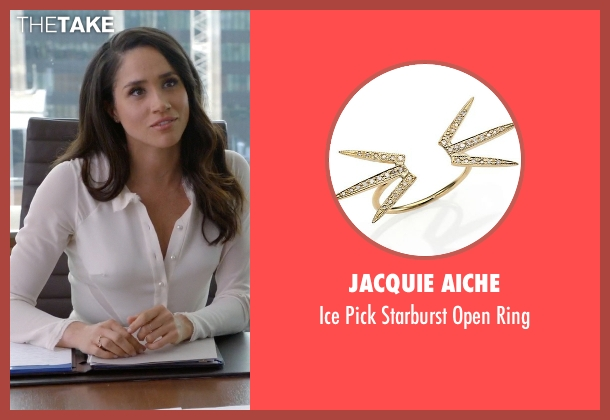 Jacquie Aiche gold ring from Suits seen with Rachel Zane (Meghan Markle)