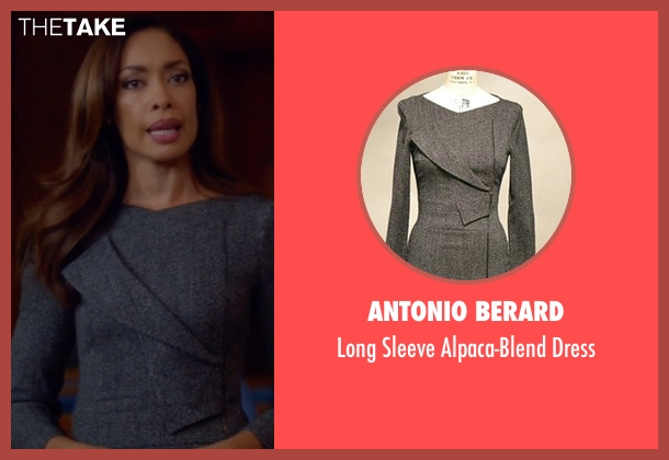 Antonio Berard gray dress from Suits seen with Rachel Zane (Gina Torres)