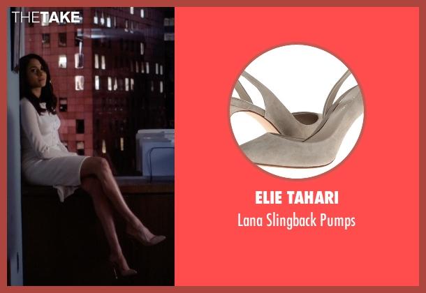 Elie Tahari gray pumps from Suits seen with Rachel Zane (Meghan Markle)
