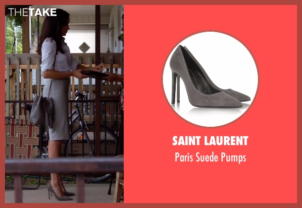 Saint Laurent gray pumps from Suits seen with Rachel Zane (Meghan Markle)