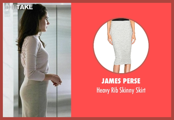 James Perse gray skirt from Suits seen with Rachel Zane (Meghan Markle)
