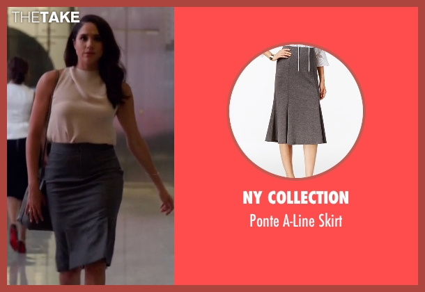 NY Collection gray skirt from Suits seen with Rachel Zane (Meghan Markle)