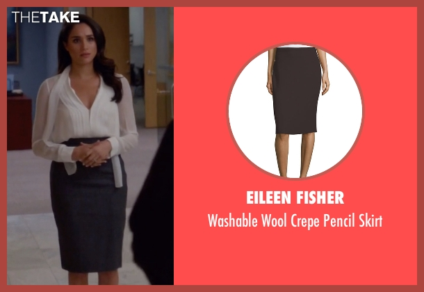 Eileen Fisher gray skirt from Suits seen with Rachel Zane (Meghan Markle)