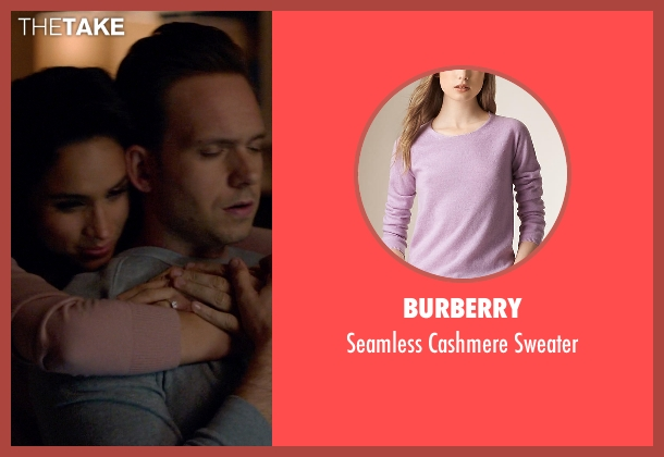 Burberry pink sweater from Suits seen with Rachel Zane (Meghan Markle)