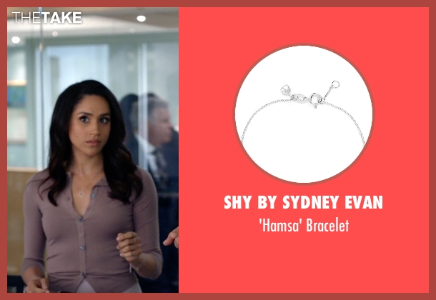 Shy by Sydney Evan silver bracelet from Suits seen with Rachel Zane (Meghan Markle)