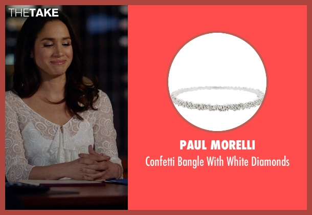 Paul Morelli silver diamonds from Suits seen with Rachel Zane (Meghan Markle)