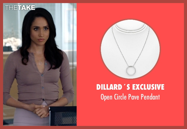Dillard´s Exclusive silver pendant from Suits seen with Rachel Zane (Meghan Markle)