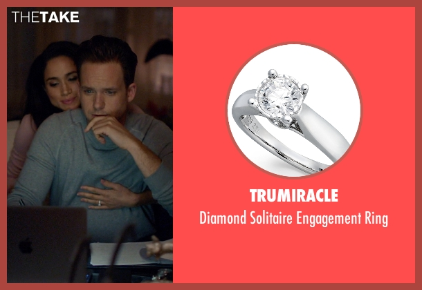 Trumiracle silver ring from Suits seen with Rachel Zane (Meghan Markle)