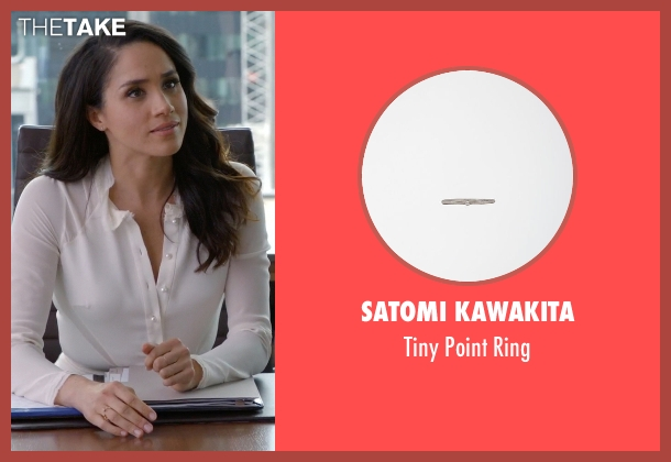 Satomi Kawakita silver ring from Suits seen with Rachel Zane (Meghan Markle)
