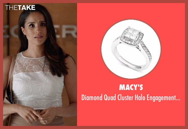 Macy's silver ring from Suits seen with Rachel Zane (Meghan Markle)