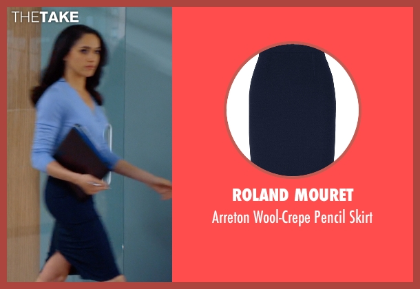Roland Mouret skirt from Suits seen with Rachel Zane (Meghan Markle)