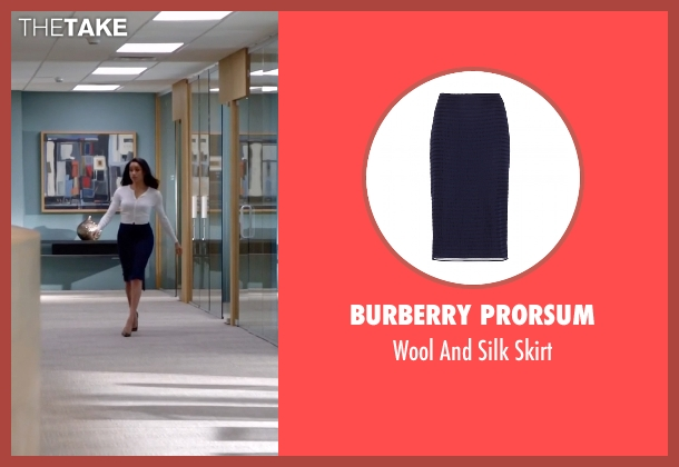 Burberry Prorsum skirt from Suits seen with Rachel Zane (Meghan Markle)
