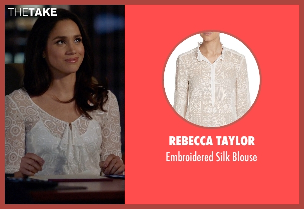 Rebecca Taylor white blouse from Suits seen with Rachel Zane (Meghan Markle)