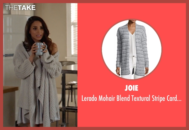 St. John Collection white cardigan from Suits seen with Rachel Zane (Meghan Markle)