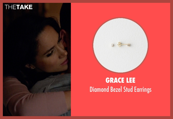 Grace Lee white earrings from Suits seen with Rachel Zane (Meghan Markle)