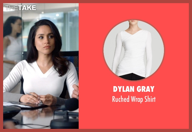 Dylan Gray white shirt from Suits seen with Rachel Zane (Meghan Markle)