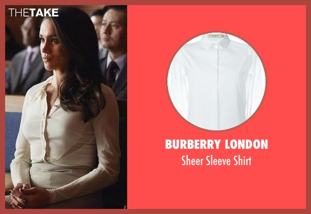 Burberry London white shirt from Suits seen with Rachel Zane (Meghan Markle)