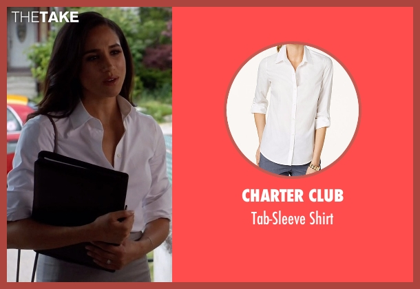 Charter Club white shirt from Suits seen with Rachel Zane (Meghan Markle)